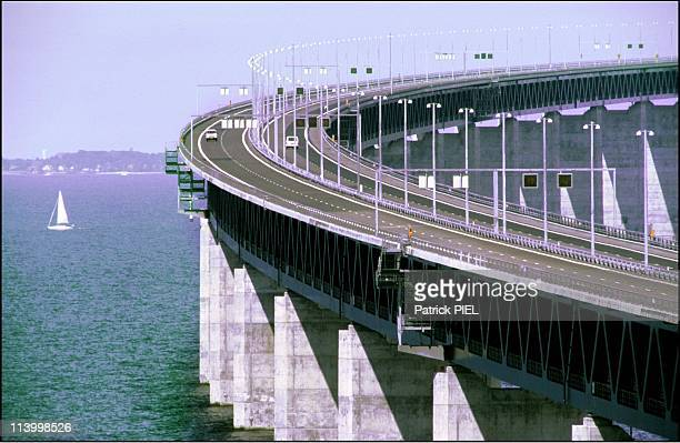 The Oeresund Bridge Between Sweden And Denmark Is About To Open In Malmo Sweden On June 26 2000