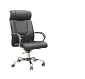 The office chair from black leather. IsolatedThe office chair from black leather. IsolatedThe office chair from black leather. IsolatedThe office chair from black leather. Isolated