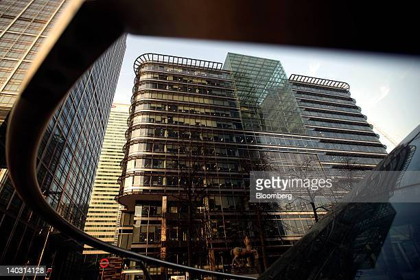 The office of the financial ratings agency Standard Poor located within 20 Canada Square is seen at the Canary Wharf business and shopping district...
