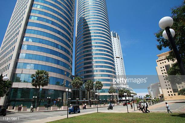 The office towers of the World Trade Center left stand in Colombo Sri ...