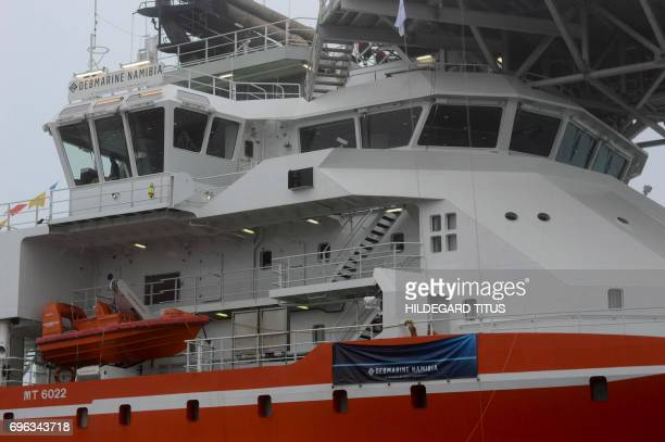 The officers' deck of the SS Nujoma a vessel built out of partnership between mining giant De Beers and Namibian Government is seen during its...