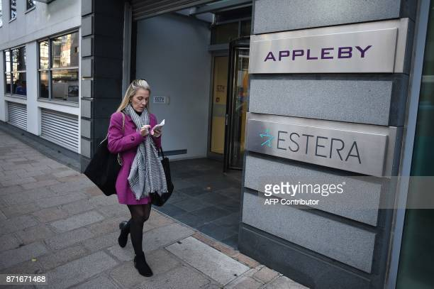 The offices of Bermudabased law firm Appleby are pictured in St Helier on the British island of Jersey on November 8 2017 Jersey is a British Crown...