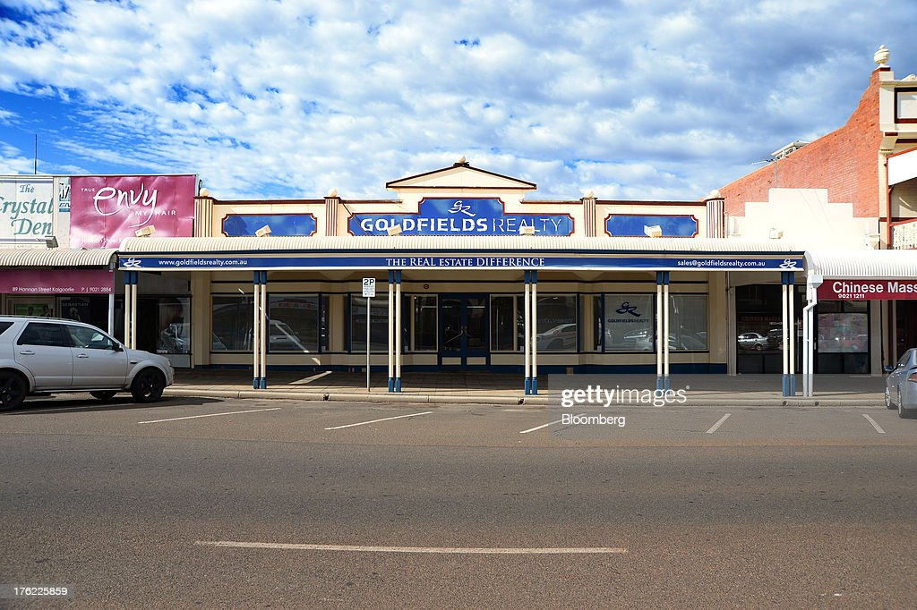 The offices of Goldfields Realty stands in the mining town of Kalgoorlie, Australia, on Thursday, Aug. 8, 2013. Western Australia, the nation's largest state by area with 2.6 million square kilometers (1 million square miles) of land, earned A$97 billion from minerals and energy sales in 2012, down from A$108 billion in 2011, according to government figures. Photographer: Carla Gottgens/Bloomberg via Getty Images