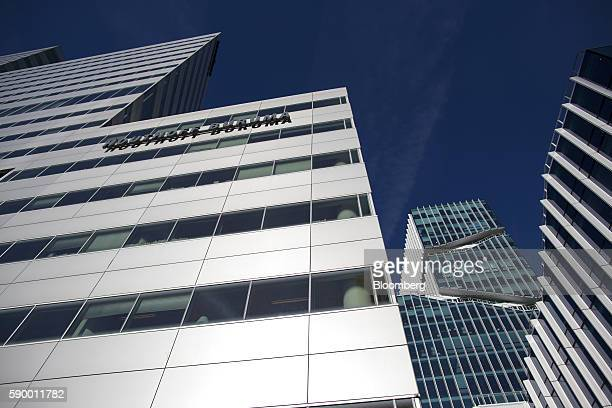 The offices of Houthoff Buruma law firm left sits among other commercial office properties in the Zuidas business district of Amsterdam Netherlands...