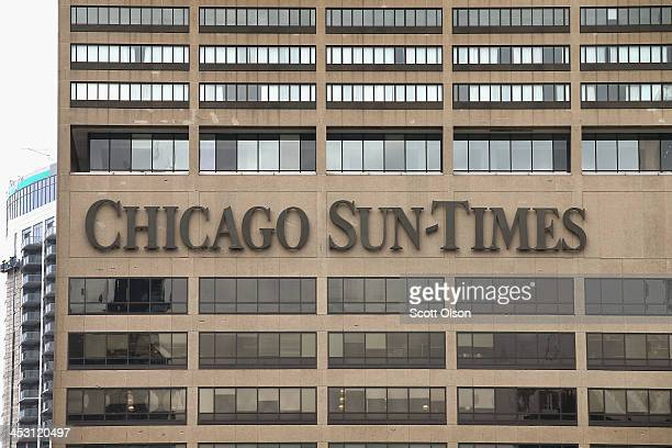 The offices of the Chicago SunTimes sit along the Chicago River on December 2 2013 in Chicago Illinois Guild member are expected to vote today on an...