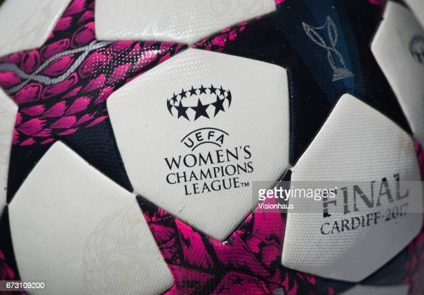 The official adidas match ball for the UEFA Womens Champions League final to be held in Cardfiff Wales shot before the UEFA Women's Champions League...