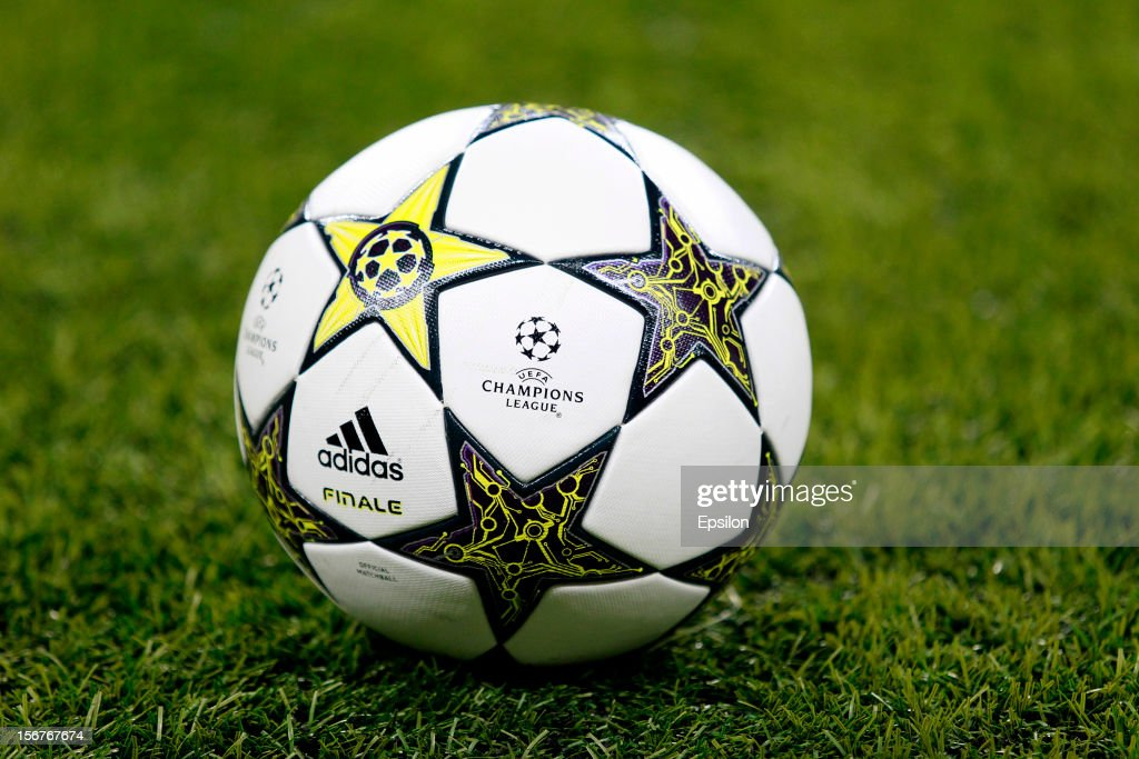 The official ball during the UEFA Champions League group G match between FC Spartak Moscow and FC Barcelona at the Luzhniki Stadium on November 20, 2012 in Moscow, Russia.