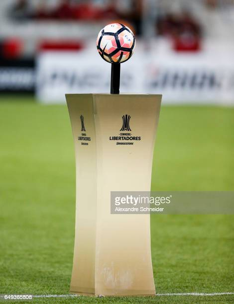 The official ball of Libertadores before the match between Atletico PR of Brazil and Universidad Catolica of Chile for the Copa Bridgestone...