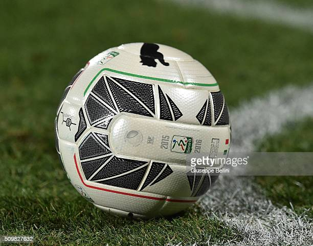 The official ball of Puma during the Serie B match between Pescara Calcio and Vicenza Calcio at Adriatico Stadium on February 12 2016 in Pescara Italy