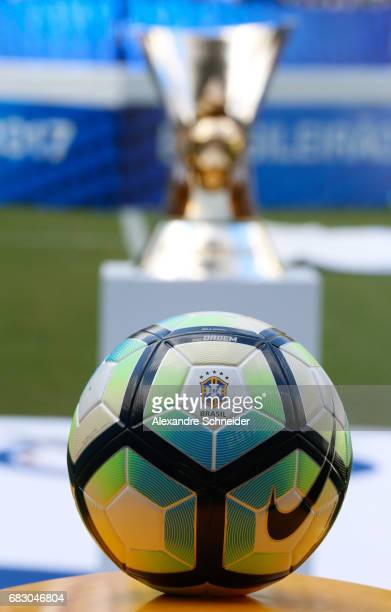 The official ball of the brasileirao 2017 before the match between Palmeiras and Vasco da Gama for the Brasileirao Series A 2017 at Allianz Parque...