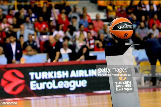 The official ball of the game during the 2017/2018 Turkish Airlines EuroLeague Regular Season Round 1 game between Olympiacos Piraeus v Baskonia...