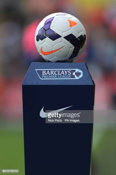The official Barclays Premier League matchball on display