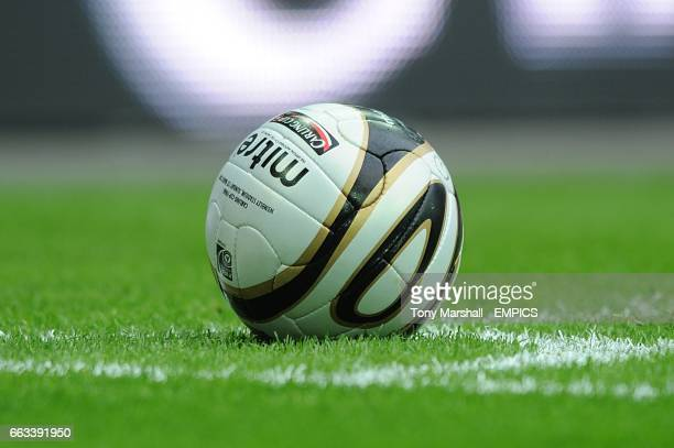 The official Carling Cup final matchball