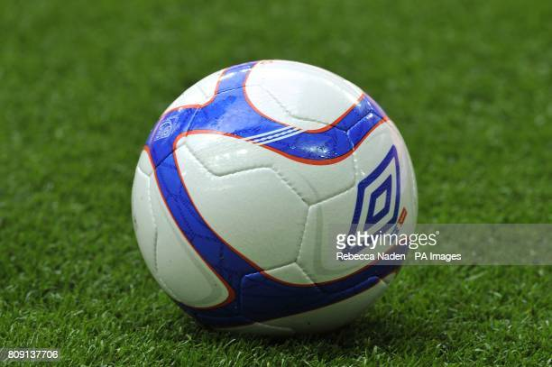 The official FA Cup matchball sits on the Wembley turf
