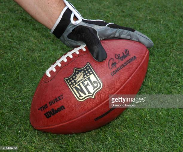 The official football of the National Football League 'The Duke' made by Wilson Sporting Goods including the signature of the newly appointed...