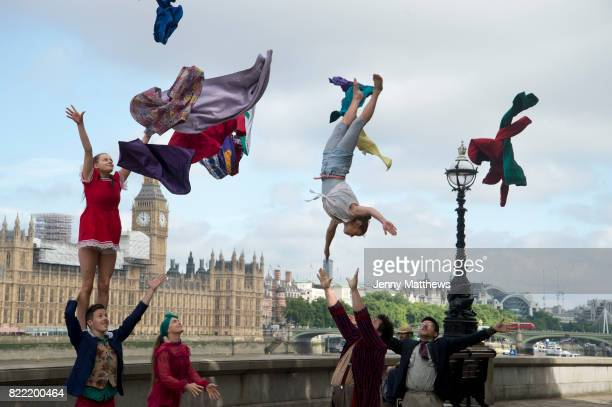 The official launch of Circus 250 the UK and Irelandwide festival celebrating 250 years of circus throughout 2018 on 25th July 2017 in London United...