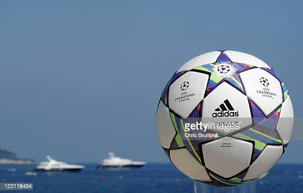 The official launch of the adidas UEFA Champions League Finale 11 matchball at the Grimaldi Forum on August 25 2011 in Monaco