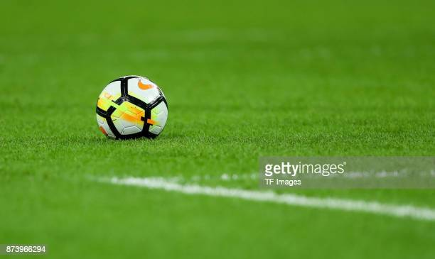 The official matchball is seen during the international friendly match between England and Germany at Wembley Stadium on November 10 2017 in London...
