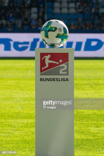 The official matchball is seen during the Second Bundesliga match between VfL Bochum 1848 and SV Sandhausen at Vonovia Ruhrstadion on October 14 2017...