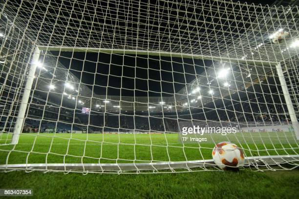The official matchball is seen during the UEFA Europa League Group C match between 1899 Hoffenheim and Istanbul Basaksehir FK at Wirsol...