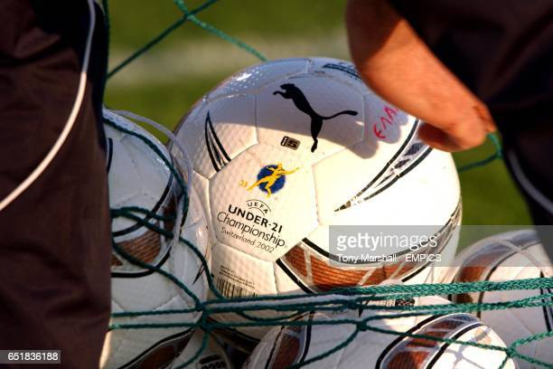 The official matchball of the European Under 21 Championships