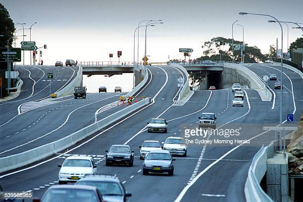 The official opening of the new M2 Motorway was performed by marathon swimmer Susie Maroney Picture shows the general motoring public hitting the M2...