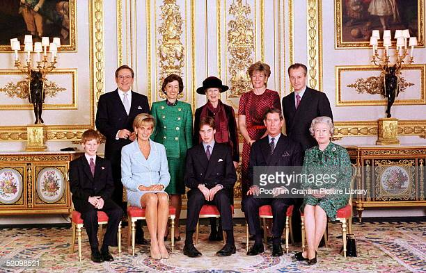 The Official Portrait Of The Royal Family On The Day Of Prince William's Confirmation At Windsor Castle Photo Taken In The White Drawing Room Left To...