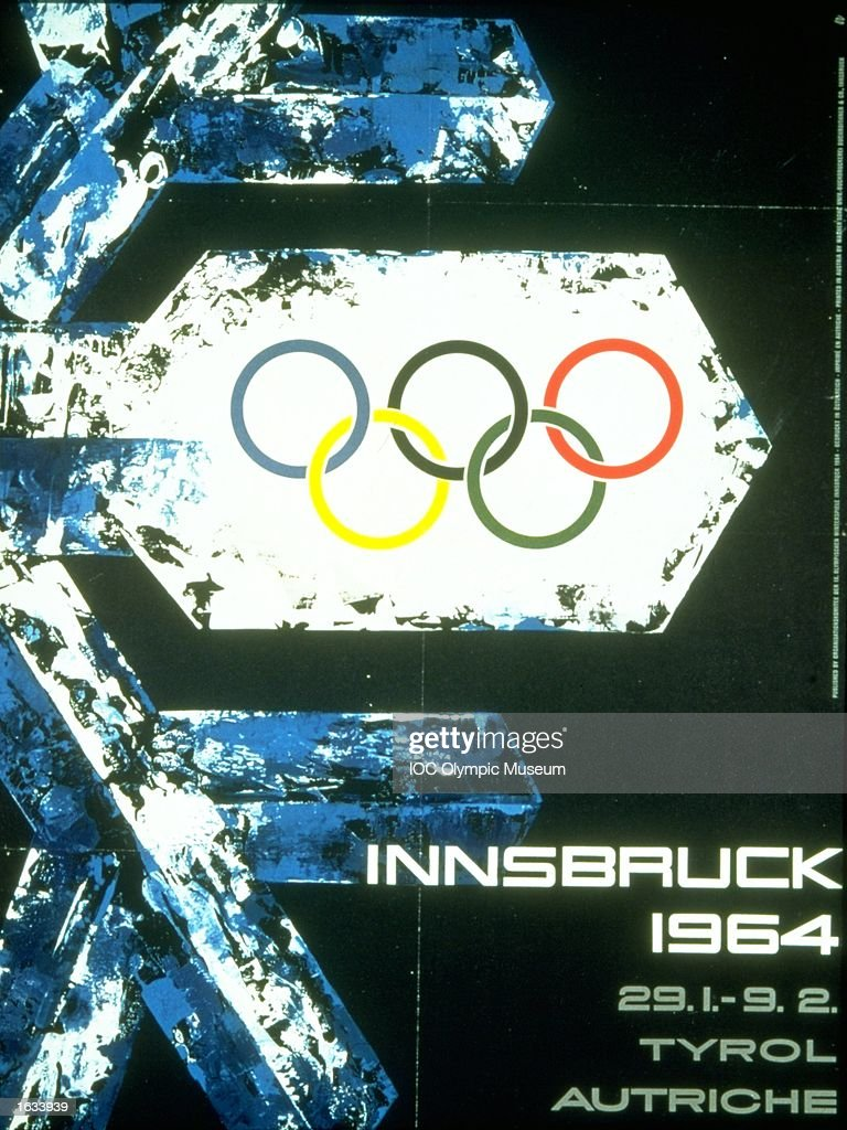 The official poster for the 1964 Winter Olympic games held in Innsbruck, Austria. The poster is in the IOC, Olympic Museum in Lausanne, Switzerland. \ Mandatory Credit: IOC, Olympic Museum /Allsport