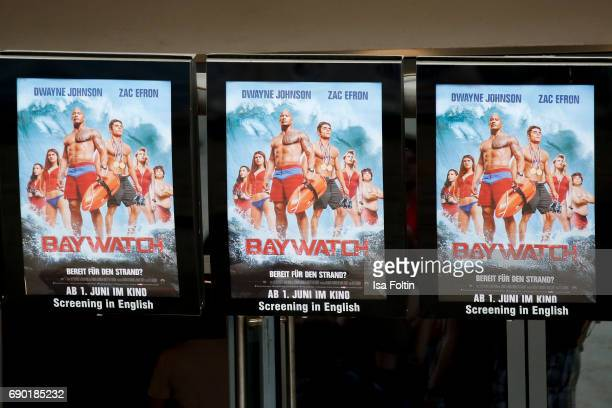 The official posters of the film 'Baywatch' during the 'Baywatch' Photo Call in Berlin on May 30 2017 in Berlin Germany
