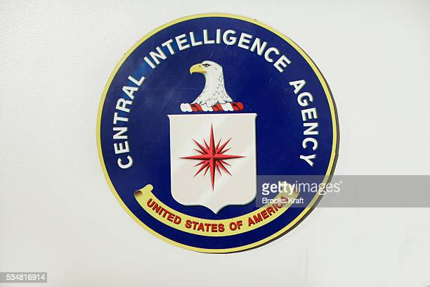 The official seal of the Central Intelligence Agency at The National Security Agency in Fort Meade Maryland