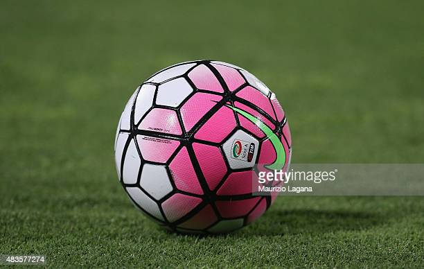 The official Serie A ball during the TIM Cup match between Calcio Catania and Spal at Stadio Angelo Massimino on August 10 2015 in Catania Italy