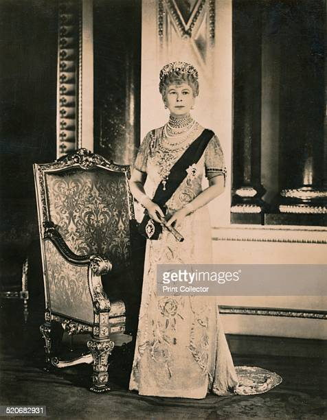 The official Silver Jubilee portrait of Queen Mary consort of King George V of the United Kingdom Taken in the Music Room of Buckingham Palace Photo...