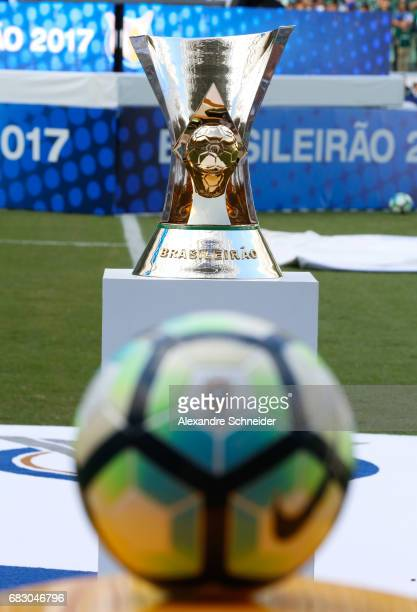 The official trophy of the brasileirao before the match between Palmeiras and Vasco da Gama for the Brasileirao Series A 2017 at Allianz Parque...