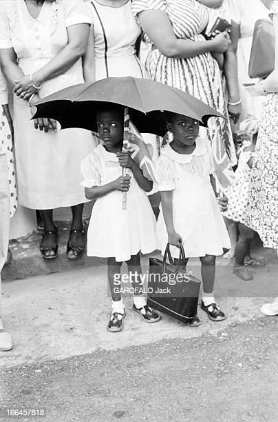 The Official Visit Of Princess Margaret In Trinidad Caribbean Island En avril 1958 la princesse MARGARET d'Angleterre visite Trinidad ile des...