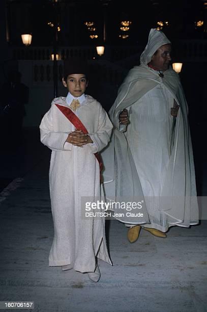 The Official Visit Of Valery Giscard D'estaing In Morocco Au palais royal de Riad le jeune prince Sidi MOHAMMED porte les insignes de grandcroix de...
