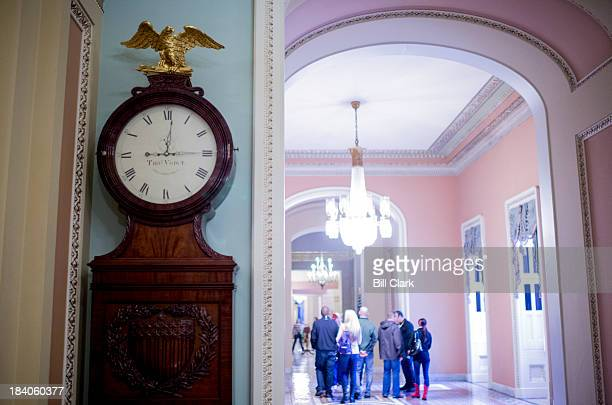 The Ohio Clock on the Senate side of the Capitol remains stuck at 1214 curators who wind the clock have been furloughed during the government shutdown