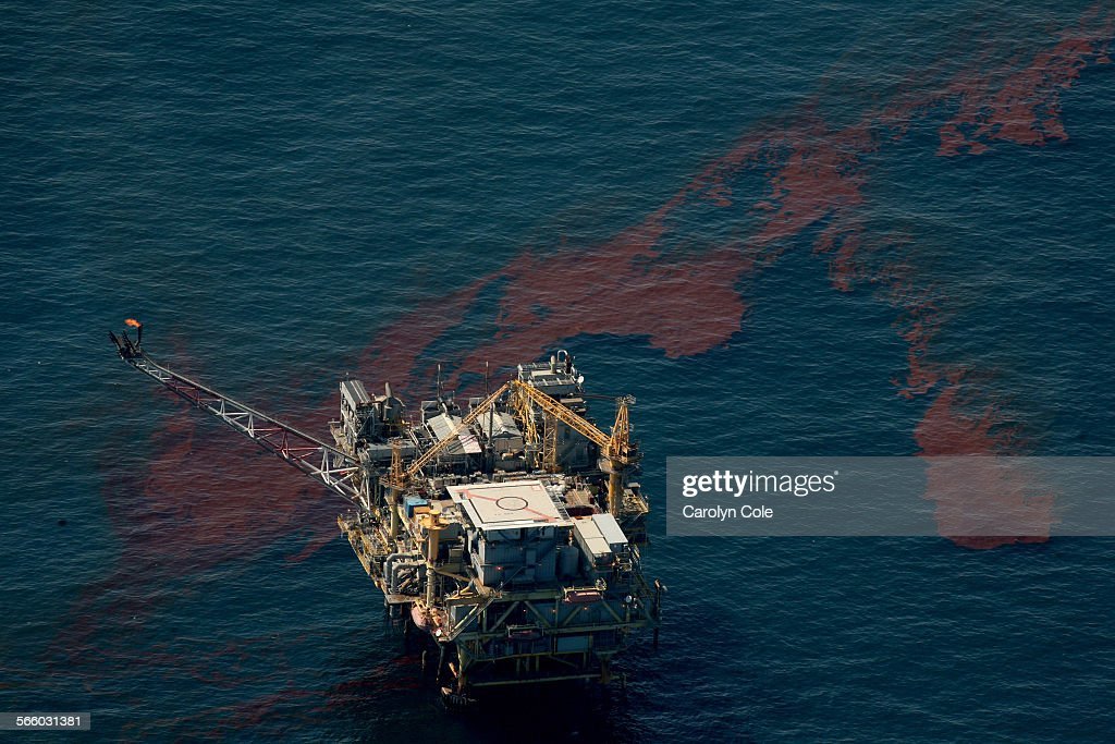MEXICO––MAY 17 2010––The oil spill in the Gulf of Mexico continues to spread despite BP's efforts to cap the well Streams of oil float by an oil...