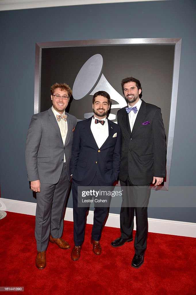 The Okee Dokee Brothers attend the 55th Annual GRAMMY Awards at STAPLES Center on February 10, 2013 in Los Angeles, California.