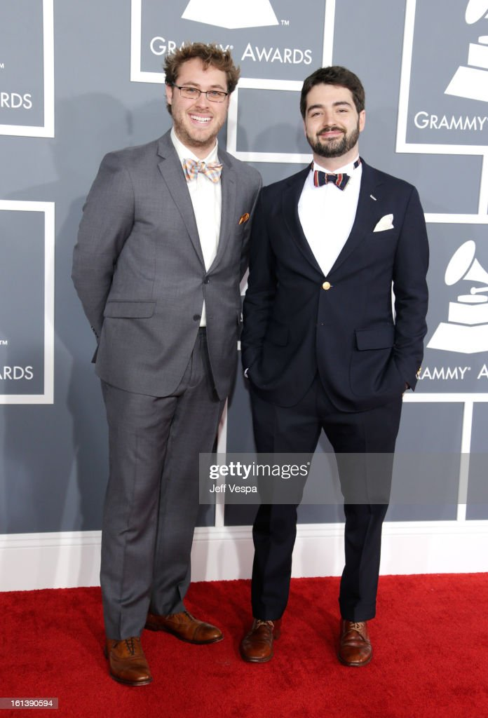 The Okee Dokee Brothers attends the 55th Annual GRAMMY Awards at STAPLES Center on February 10, 2013 in Los Angeles, California.