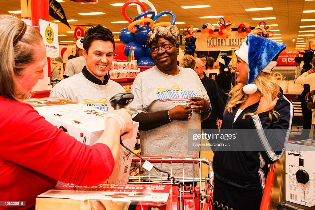 The Oklahoma City Thunder team takes 10 families in Sunbeam Family Services' Grandparents Raising Grandchildren program on a holiday shopping spree on December 10, 2012 at a Target Store in Oklahoma City, Oklahoma. . The fifth annual event is part of the Thunder Holiday Assist initiative, presented by Cox Communications.