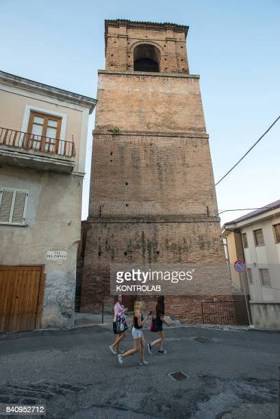 The old bell tower in the historic center of Cassano allo Ionio Calabria southern Italy