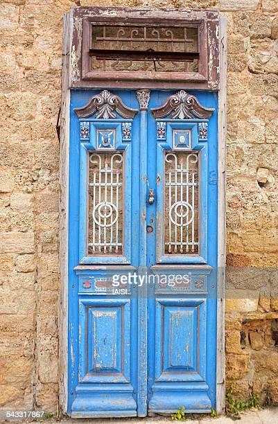 The old blue door in Jaffa