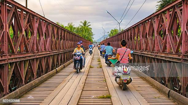 Le Vieux Pont à Luang Prabang, du Laos
