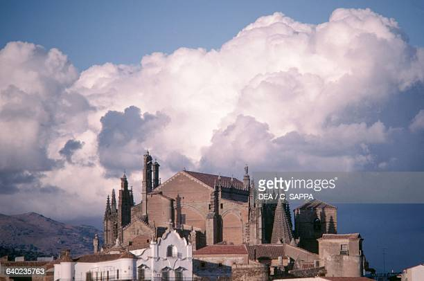 The Old Cathedral of St Mary 13th15th century and the New Cathedral of St Mary 15th16th century Plasencia Extremadura Spain