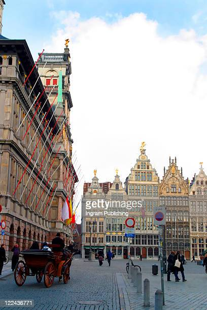 The old center of Antwerp Belgium