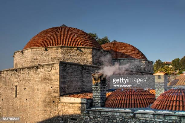 The old Cinci Hammam of Safranbolu with its brick coupolas, Karabuk, Turkey