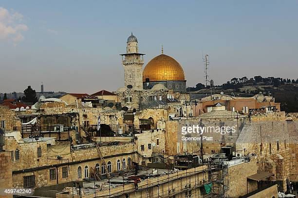 The Old City of Jerusalem including the Dome of the Rock is seen on November 30 2014 in Jerusalem Israel Nine Israelis have been killed in a series...