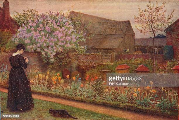 The Old Farm Garden' 1871 Painting held in the Courtauld Gallery London From The Studio Volume 85