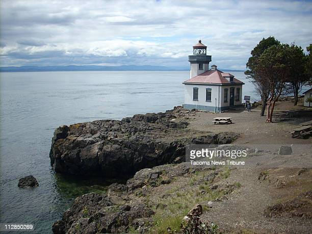 The old light house at Lime Kiln State Park is now an information center for whale watchers