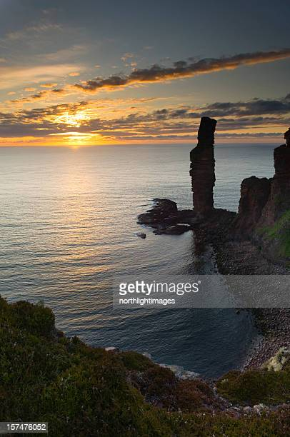 The Old Man of Hoy at sunset